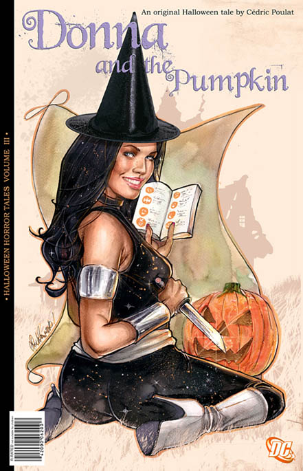 DC Universe, Donna Troy, sexy, Halloween, artwork