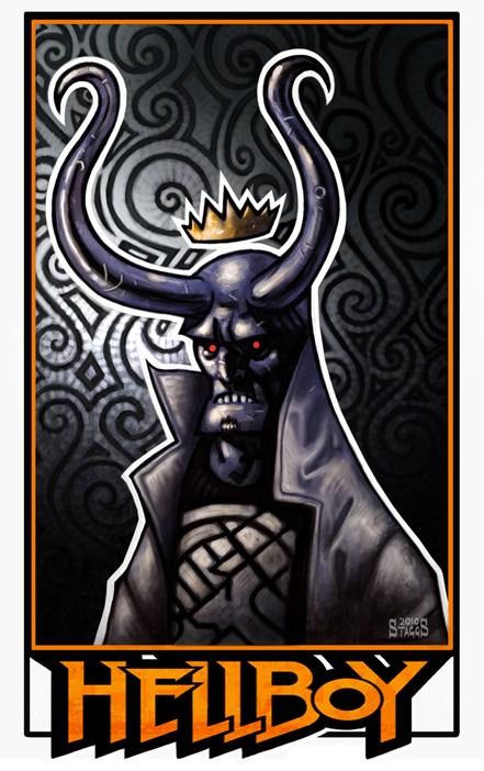 Chris Staggs, Hellboy, artwork, line