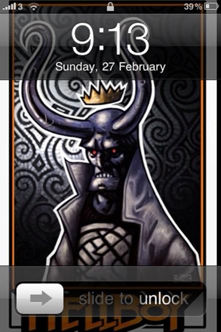 iPhone 5, release date, iPhone 4, iOS, hellboy, Chris Staggs, lock screen, wallpaper