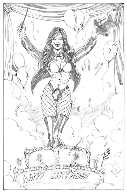 Zatanna, DC, Sexy, Birthday, Preview, Sneak, Sexy, Linework