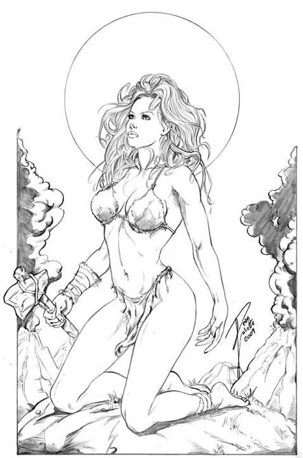 Cavewoman Pin up Art