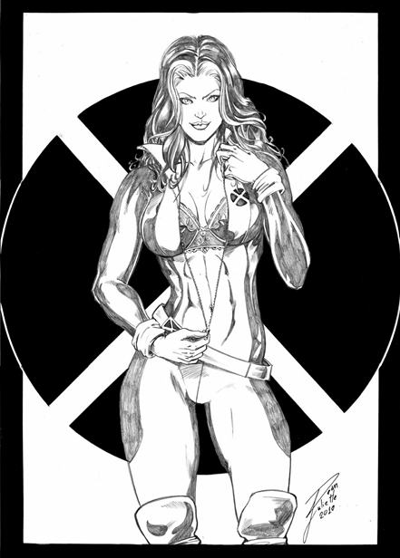 Rogue, X-Men, sexy, Black Cat, Elektra, Psylocke, sketch, artwork, iPhone wallpaper, bbw, bbww