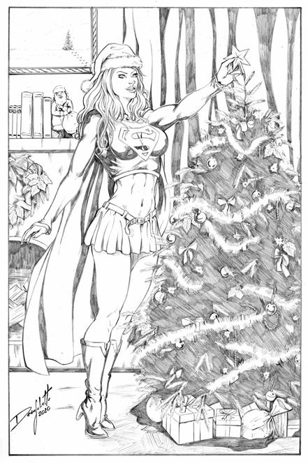 Mary Jane, Spiderman, Xmas, Christmas, 2010, Sexy, sketch, Harley Quinn, Red Sonja, Zatanna, Supergirl