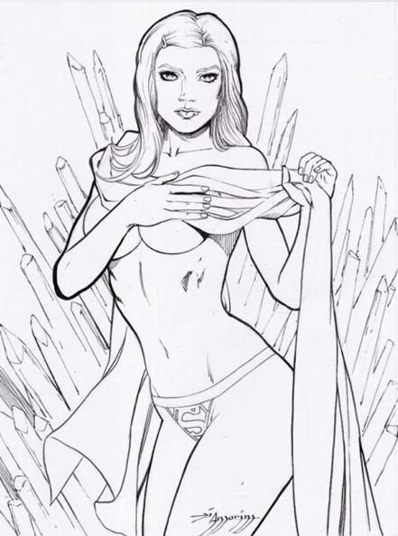Supergirl, sexy, Red Monica, sketch, artwork, MIB, Men in Black, Will Smith, Kara, Smallville