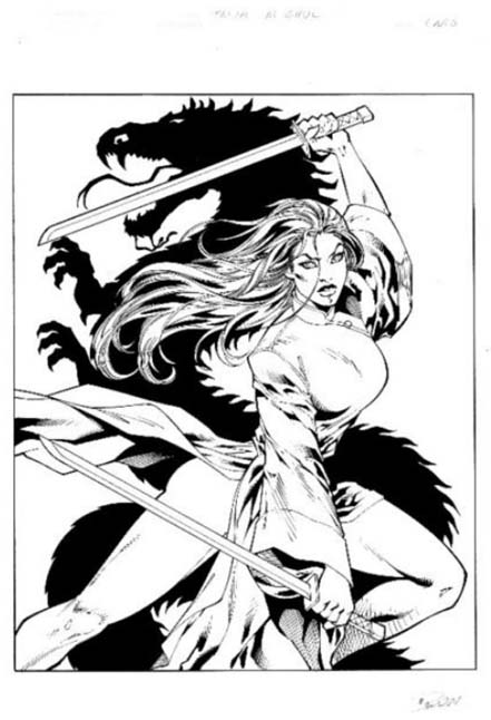 Abbey Chase, Danger Girl, Alex Lei, Talia, Ron Adrian, Batman, artwork, original