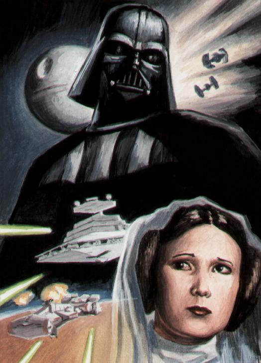Star Wars, Artwork, Darth Vader, Princess Leia, Tutorial