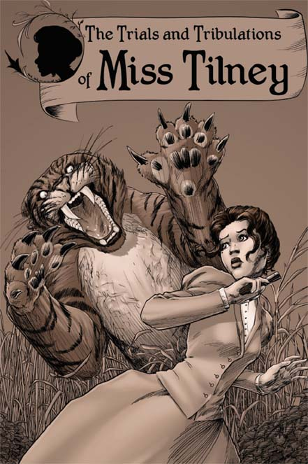 Miss Tilney, Trial and Tribulations of Miss Tilney, David Doub, cover, Phoenix Comicon