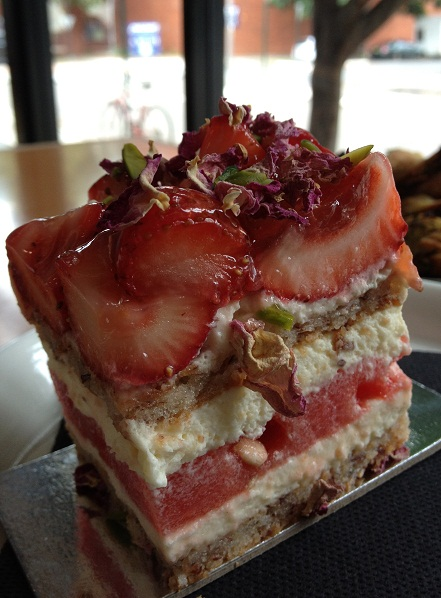 Almond Zucchini Twist, Rosebery, Newtown, Black Star Pastry, photo, Strawberry Watermelon cake