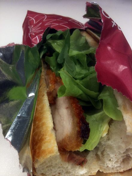 Taste Baguette, Roast Pork Baguette, Honey Mayo, Crackling, Brie, Lettuce, World Square