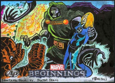Frankie Washington, sketch cards, artwork, original, FF, 01, 02, cbr, cbz, epting, hickman
