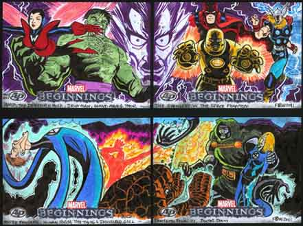 Marvel Beginnings, Trading Card, Fantastic Four, FF, Doctor Doom, Avengers
