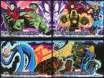 Marvel Beginnings, Trading Card, Fantastic Four, FF, Doctor Doom, Avengers