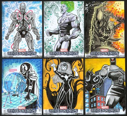 Marvel Beginnings, Card Set, Trading Card, Sketch Cards, Frankie Washington, artwork, eBay, Doctor Octopus