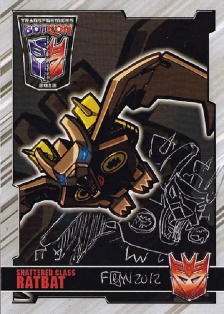 Ratbat, Slugfest, Transformers, movie, Optimus Prime, BotCon, Chase Card, ACEO