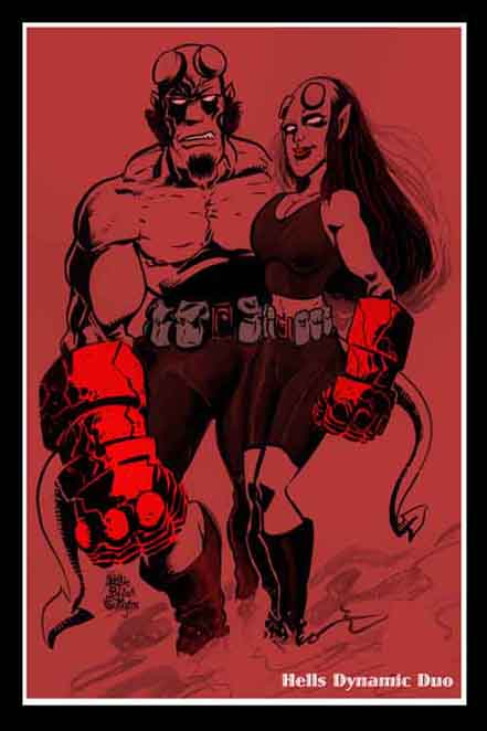 frankie washington, boston, hellboy, sketch book, hellgirl, wolf