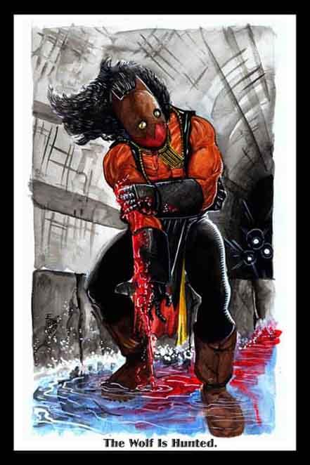 frankie washington, boston, hellboy, sketch book, hellgirl, wolf