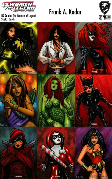DC Women of Legend, Set, Artist, Sketch Cards, Frank Kadar, Cryptozoic