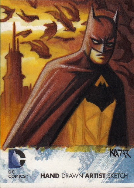 DC 52, Sketch Card,Batman,Batwoman,Frank Kadar