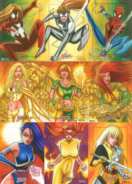 Dangerous Divas, Spiderwoman, Psylocke