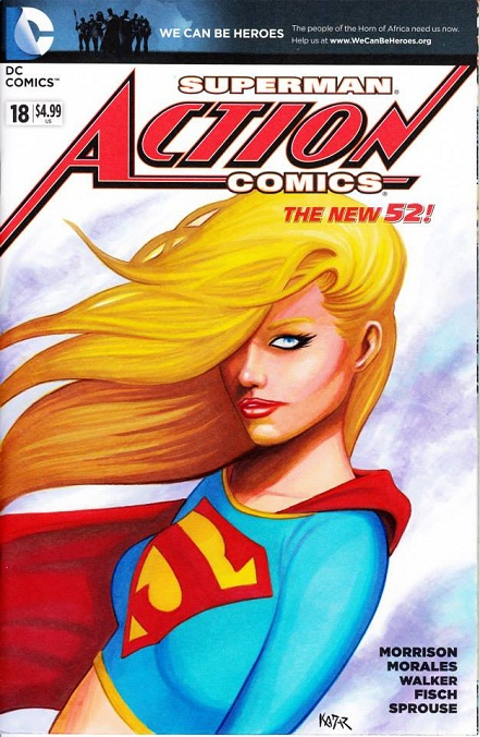 Supergirl, Frank Kadar, artwork, sexy, images, Action Comics 18