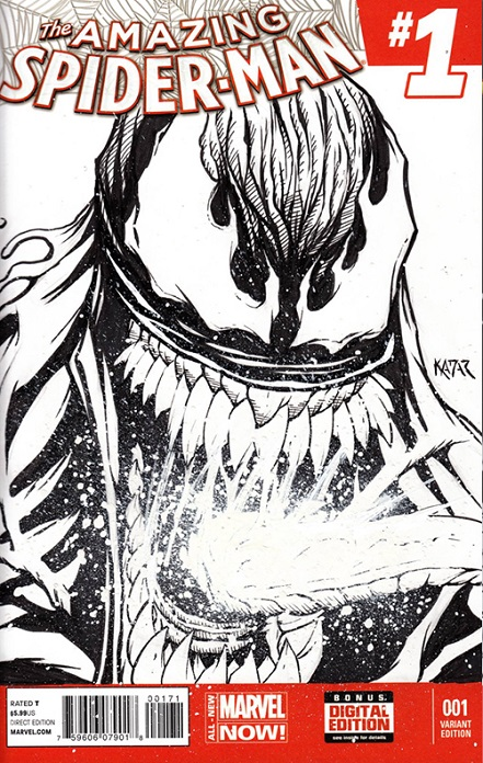 Ghost Rider, Venom, Frank Kadar, eBay, sketch covers