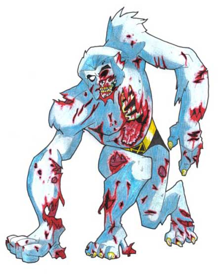Nightcrawler Beast X-Men Zombie Marvel