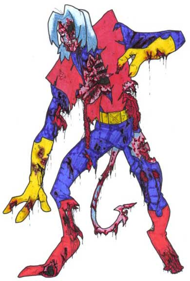 Nightcrawler Beast X-Men Zombie Marvel