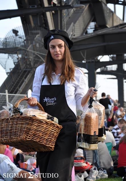 Grass Picnic Sydney Harbour Bridge Bread
