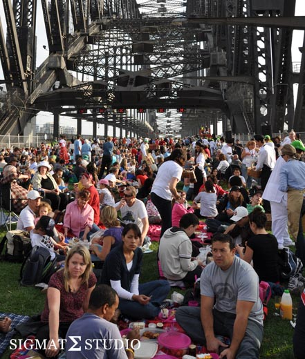 Grass Picnic Sydney Harbour Bridge