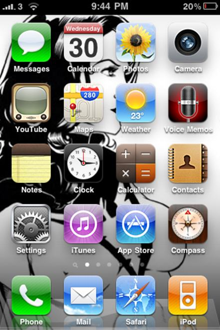 iPhone, Home Screen Wallpaper, Spider-man, Red Sonja, Witchblade, Phoenix