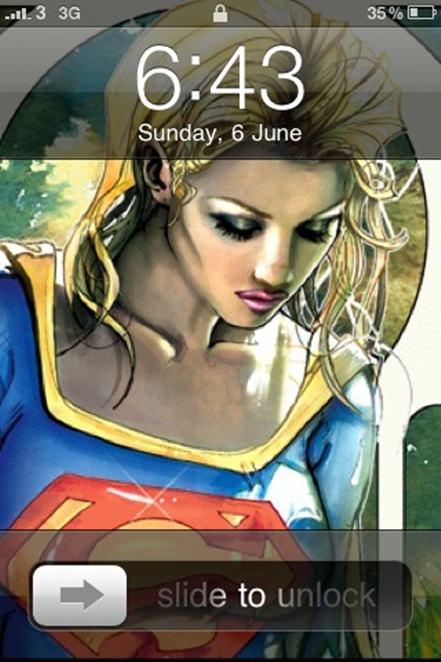 iphone, ipad, wallpaper, cedric poulat, supergirl, sexy