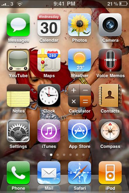 iPhone, Home Screen Wallpaper, Spider-man, Red Sonja, Witchblade, Phoenix