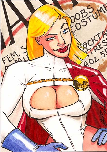 Powergirl - Graphic Novel Art