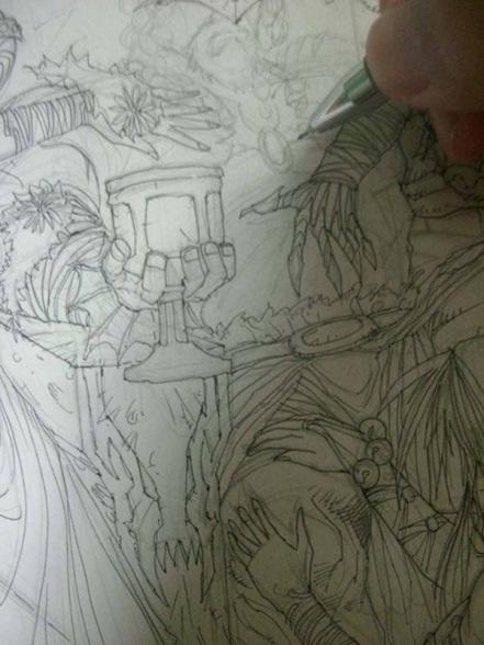 artwork, Jun, line, roughs, sequential, Conan