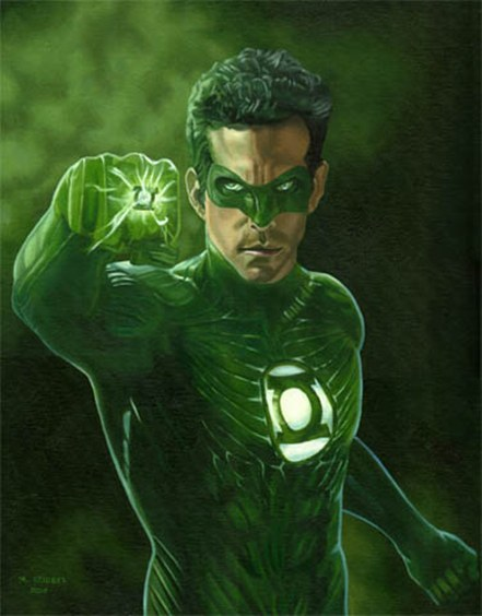 DC Movie, Green Lantern Movie, GL, Ryan Renolds, Hal Jordan, artwork, painting, release date