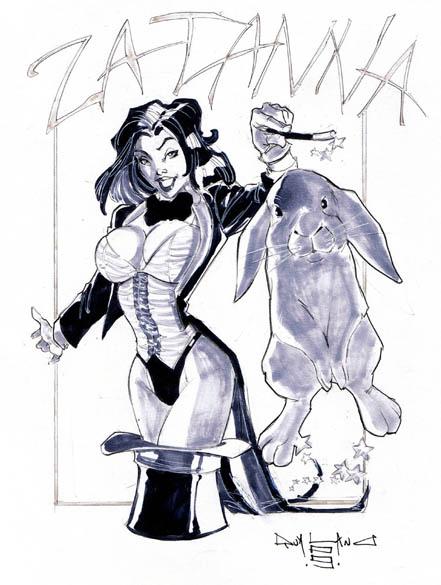 Zatanna magic sketch