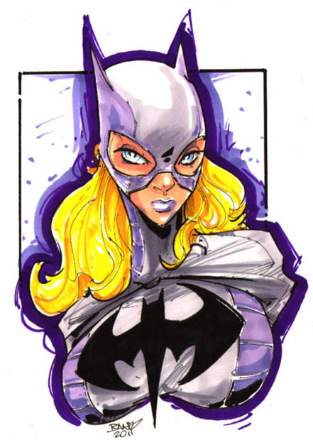 Batgirl, Huntess, Posion Ivy, DC Bust, sexy, artwork, coloured, sketch, sigmate line