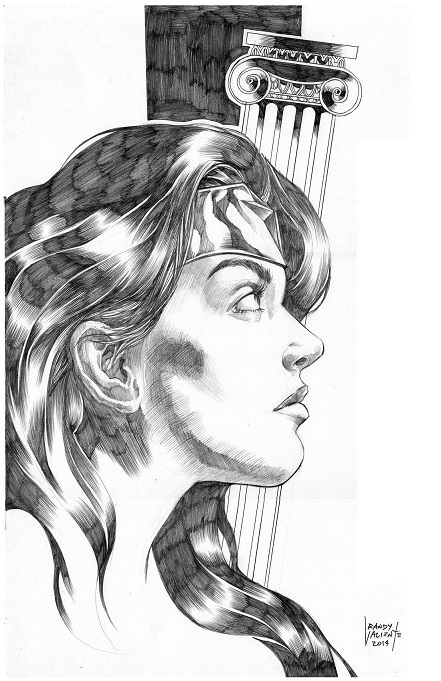 Wonder Woman, artwork, sexy, randy valientes
