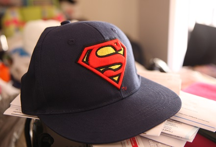 Photo, EB Games, Superman, Cap, S Logo