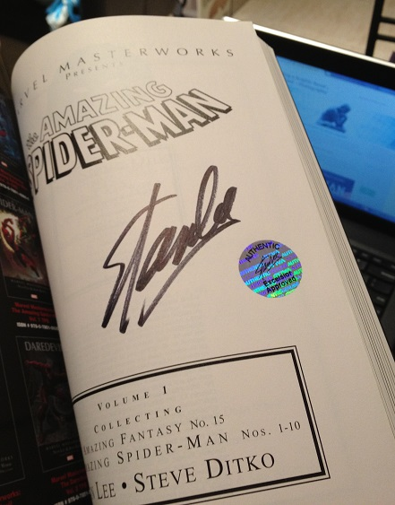 Stan Lee, Supanova 2014, signature, Amazing Spider-Man, autograph