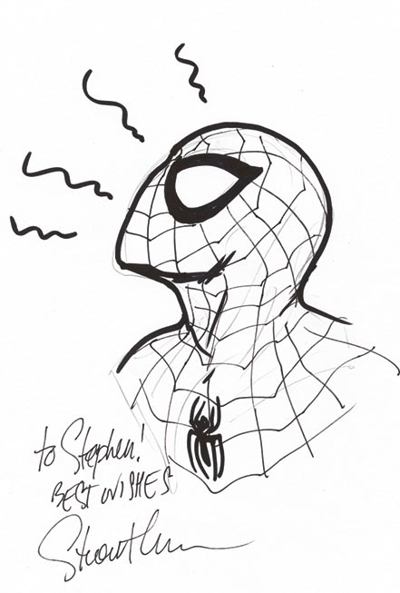 Ultimate Spider-Man, Spiderman, Stuart Immonen, Bendis, Convention, Supanova, sketch