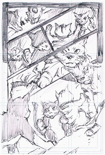 Tabby, P.R Dedelis, artwork, roughs, fish market