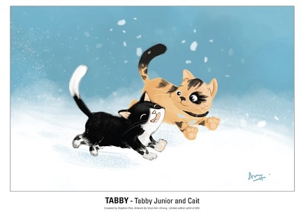 Tabby, Kickstarter, Tabby Jnr, Cait, Voon Ann Chong, P.R. Dedelis