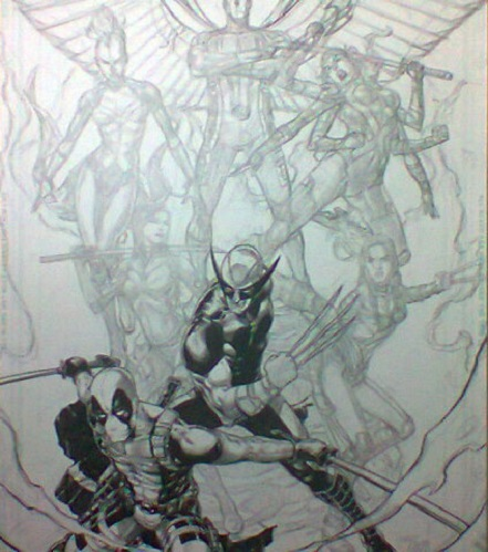 Tirso Llaneta, commission, artwork, Little Mermaid, layout, uncanny X-Men