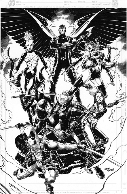 Tirso Llaneta, commission, artwork, Little Mermaid, layout, uncanny X-Men